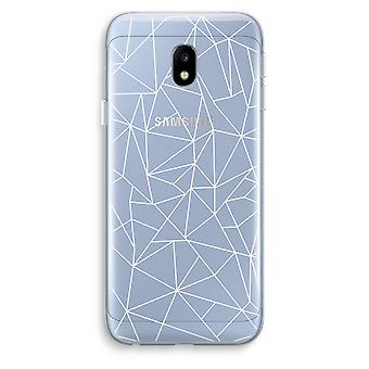Samsung Galaxy J3 (2017) Transparent Case (Soft) - Geometric lines white