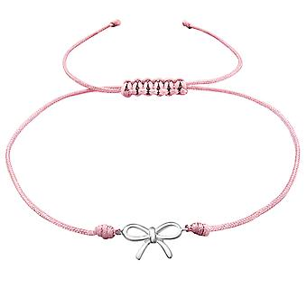 Bow - 925 Sterling Silver + Nylon Cord Corded Bracelets