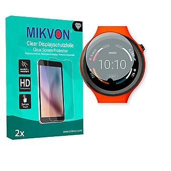 Motorola Moto 360 Sport Smartwatch Screen Protector - Mikvon Clear (Retail Package with accessories) (intentionally smaller than the display due to its curved surface)