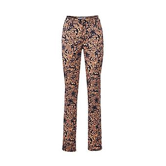 Ashley brooke ladies Push-Up in the ethnic look short size Brown print pants