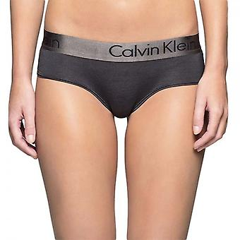Calvin Klein Women Dual Tone Hipster Brief, Black/Shadow Grey, Large