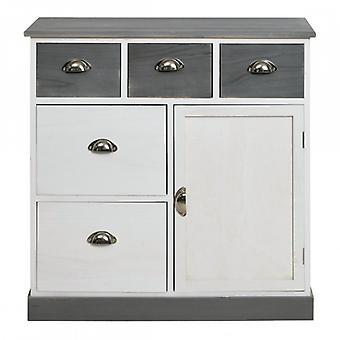 Vintage Pantry Cabinet 1 Door 5 Drawers-Re4489 and Country Furniture-Rebecca