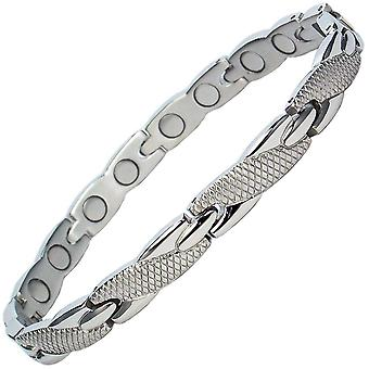 ADANA Stainless Steel Magnetic Bracelet + FREE Links Removal Tool