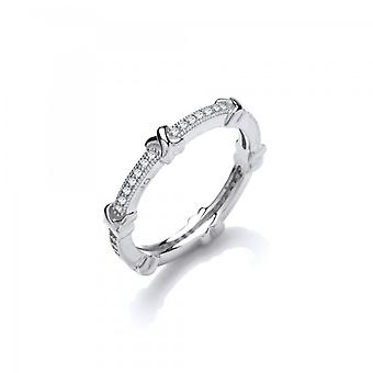 Cavendish French Sterling Silver and CZ Bows Ring