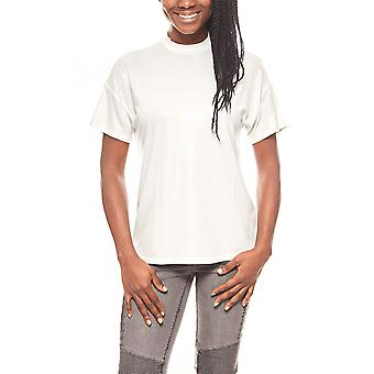 Aniston noble ladies T-Shirt with glossy finish silver