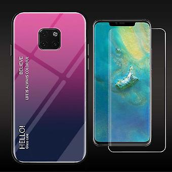 For Huawei mate 20 Pro color effect cover pink case cover + 4 d curved glass new