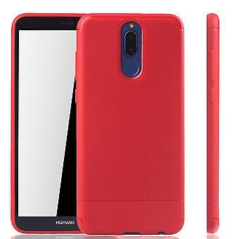 Huawei amigo tampa móvel Lite 10 Schutzcase carbono óptica vermelha para-choque