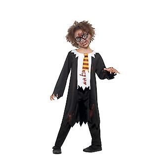 Zombie Student Costume, Halloween Child Fancy Dress, Large Age 10-12
