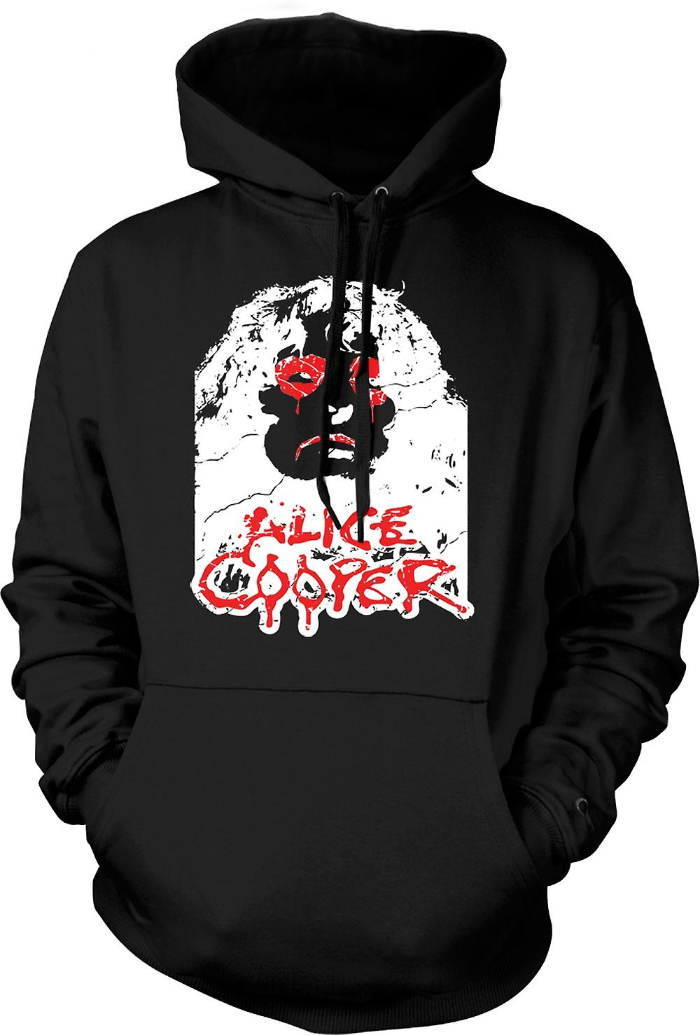 Mens Hoodie - occhi di Alice Cooper
