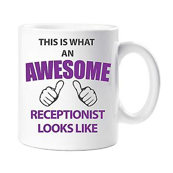 This Is What An Awesome Receptionist Looks Like Mug
