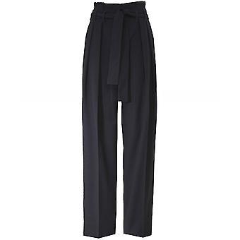 Victoria Victoria Beckham Front Pleat Tie Trousers