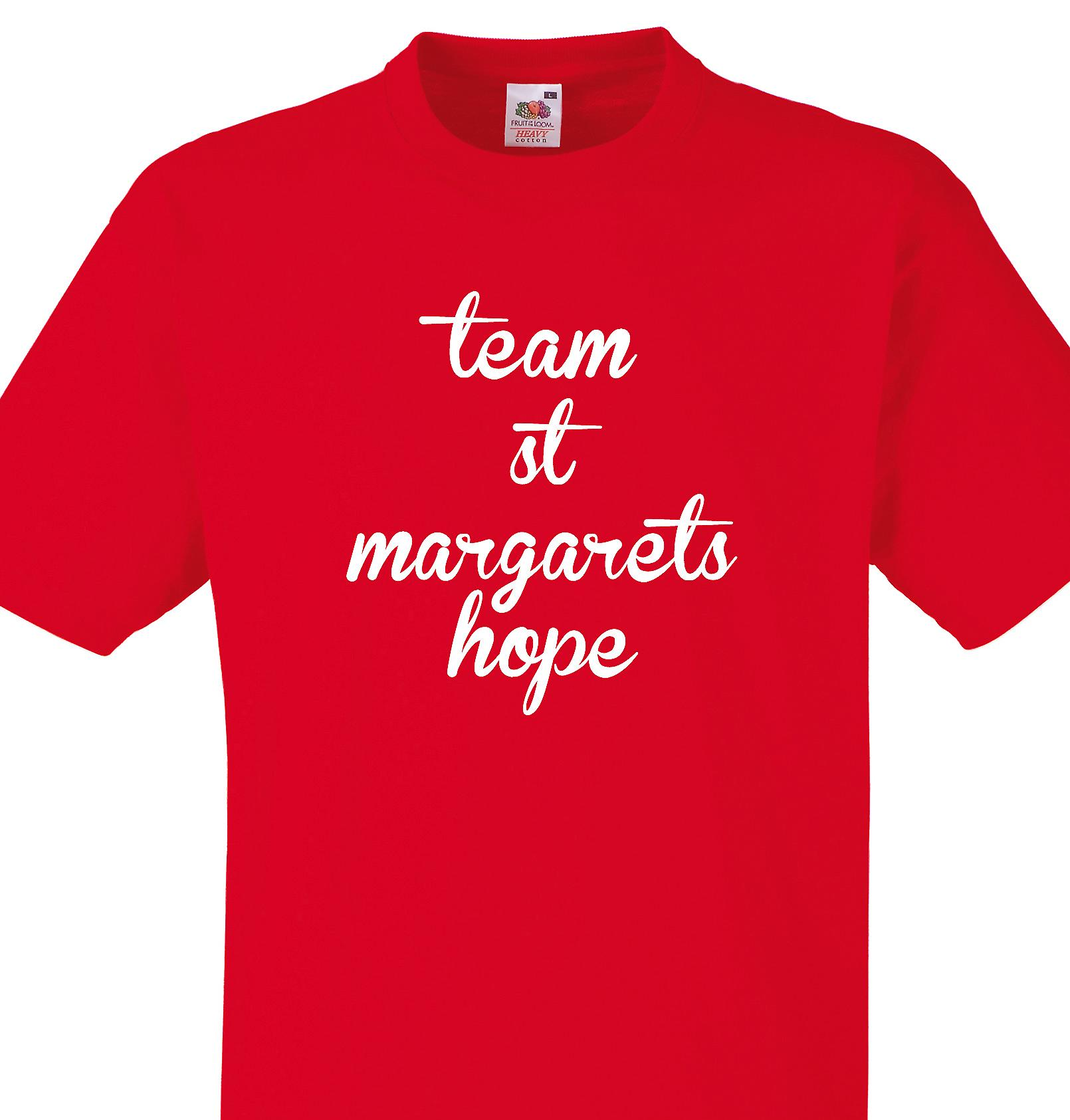 Team St margarets hope Red T shirt