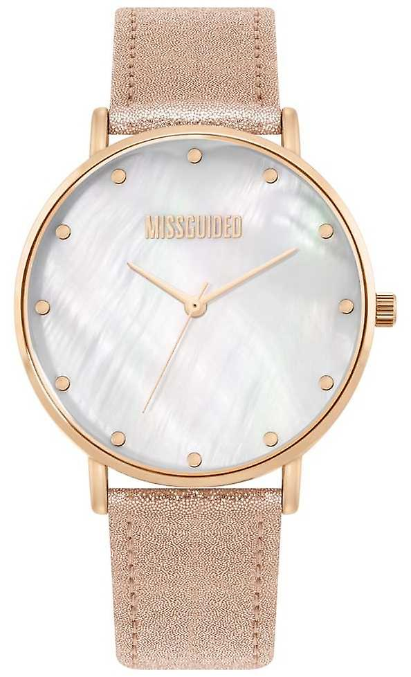 Missguided   MesLes dames rose bracelet cuir   MG014RG regarder