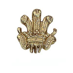 9ct Gold 11x11mm Prince of Wales feathers Tie Tack