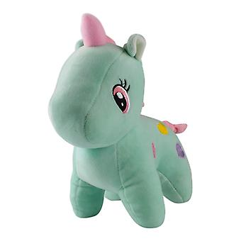 Unicorn with hearts, plush toys/stuffed animals-Green