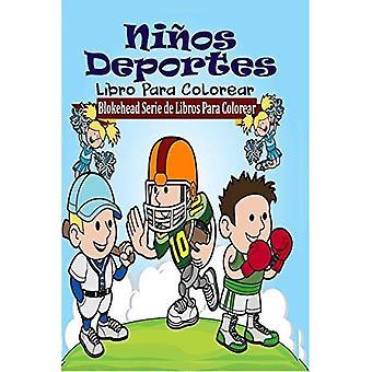 Nios Deportes Libro Para Colorear