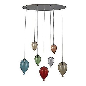 Ideel Lux - klovn farve Oval vedhæng IDL100937