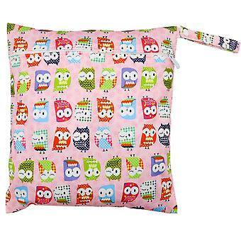 TRIXES Cute Pink Owl Diaper Water Resistant Bag