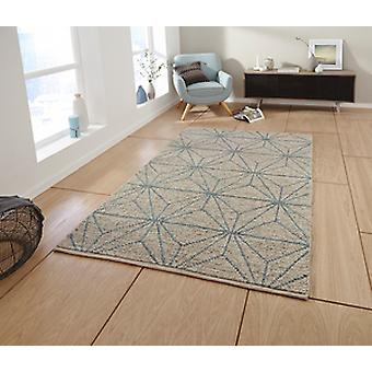 Alpha AL73 Beige Blue  Rectangle Rugs Modern Rugs