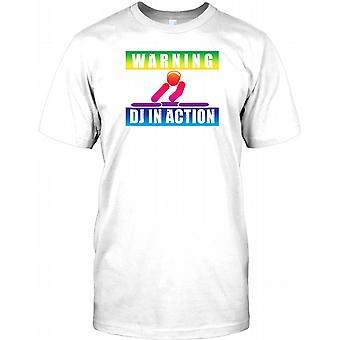 Warning DJ In Action - Rainbow Effect Kids T Shirt