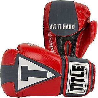عنوان جل ايروفينت قابل للغسل قفازات الملاكمة اللياقة البدنية - أحمر / رمادي