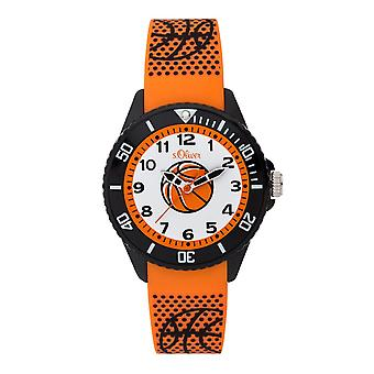 s.Oliver silicone band watch kids SO-3759-PQ