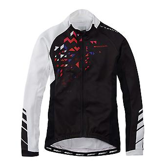 Madison Black-White 2016 Sportive Womens Long Sleeved Cycling Jersey