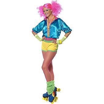 80er Girl Skater Kostüm Roller Skater Neon Kostüm
