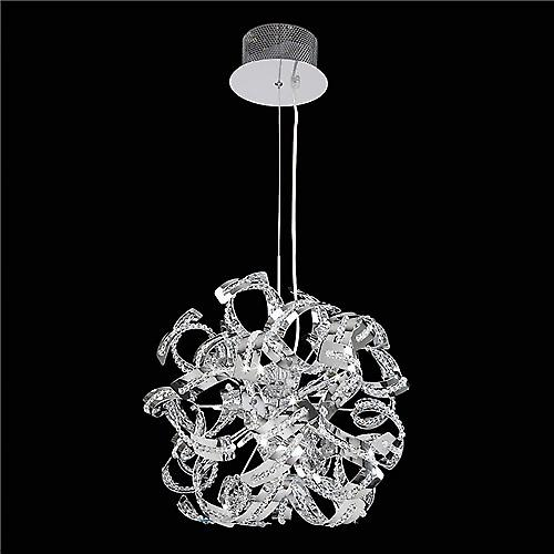 Endon TWIST-9CH Twist Modern Pendant With Twisted Chrome And Bead Detail