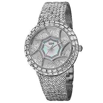 Burgi Women's Ladies Brass Quartz Bling Bracelet Watch BUR118SS