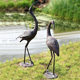 Home And Garden Cast Iron Dancing Cranes