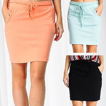 Fresh Made Women's Mini Skirt Braided Belt Midi Skirt Bags Binding Belt Cotton