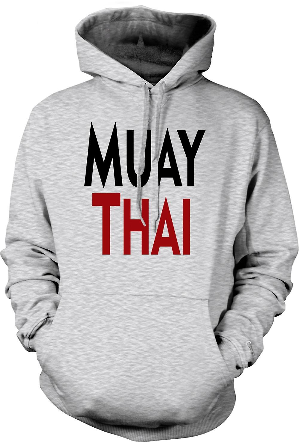 Mens Hoodie - Muay Thai - Martial Art - Slogan