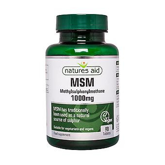 Natures Aid MSM (Methylsulphonylmethane) 1000mg, 90 Tablets. Suitable for Vegans.