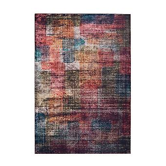 Modern Rug Colorful Design Vintage Pattern Red Blue Green Yellow