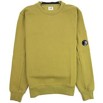 CP Company Diagonal Raised Fleece Lens Crew Sweatshirt Moss Green 639