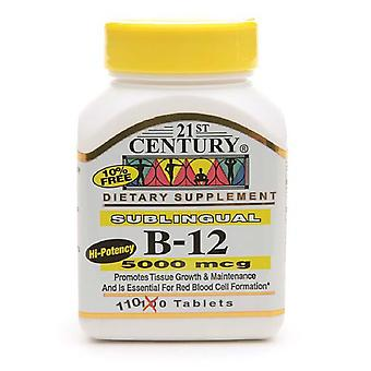 21st century sublingual vitamin b-12 5000 mcg, tablets, 110 ea