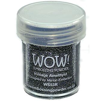 Wow ! Embossage poudre 15Ml Wow améthyste Vintage Ws53r