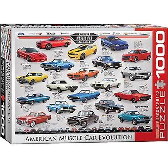Muscle Car Evolution 1000 stuk puzzel 680 x 490 mm (pz)