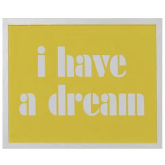 Wellindal Picture  I have a dream  yellow background 44x54x1,9 cm