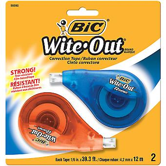 BIC EZ Correct Wite-Out Correction Tape 2/Pkg-White WOTAPP21