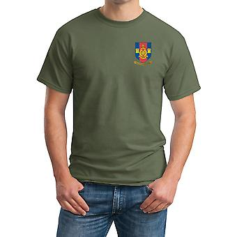 RMR Tyne Crest Embroidered Logo - Official Royal Marines - Ringspun T Shirt