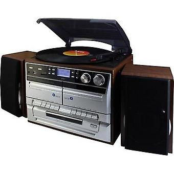 Audio system SoundMaster MCD5500DBR AUX, CD, DAB+, Tape, Turntable, SD, FM, USB, Recording mode Brown