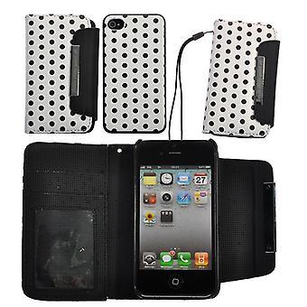4:00 pm 1-avtakbar-baserte porteføljen Cover iPhone 4/4s