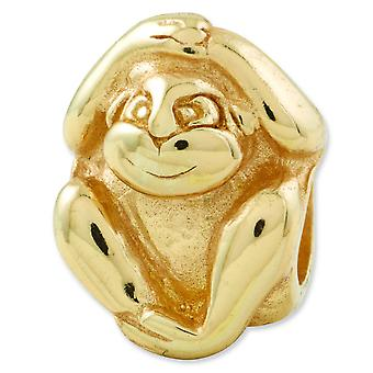 Sterling Silver Gold-plated Reflections Monkey Bead Charm