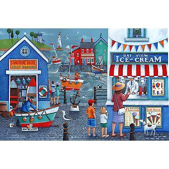 Seaside Ice Creams Poster Print by Peter Adderley
