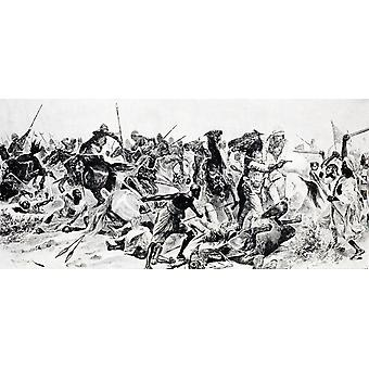 Charge Of The 21St Lancers At Omdurman After Drawing By R Caton Woodville In Illustrated London News September 24 1898 From A Roving Commission By Winston S Churchill Published By Scribners 1930 Poste