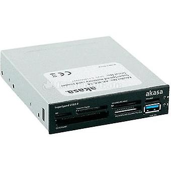 3.5 internal memory card reader Akasa AK-ICR-14 Black, White