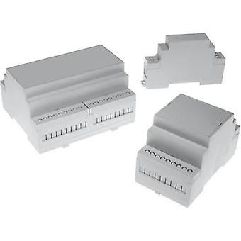 DIN rail casing 90 x 160.0 x 58 Polycarbonate (PC) Axxatronic CNMB-9-KIT-CON 1 pc(s)