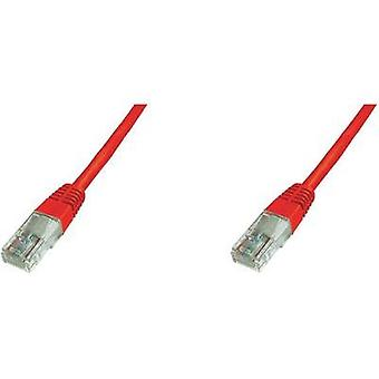 RJ49 Networks Cable CAT 5e U/UTP 3 m Red Digitus Professional